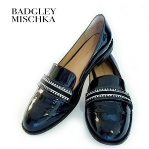 Badgley Mischka Sonoma Black Patent Leather Loafer